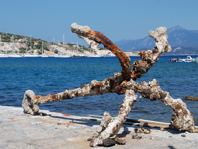 Anchor in the harbour of Pythagorio