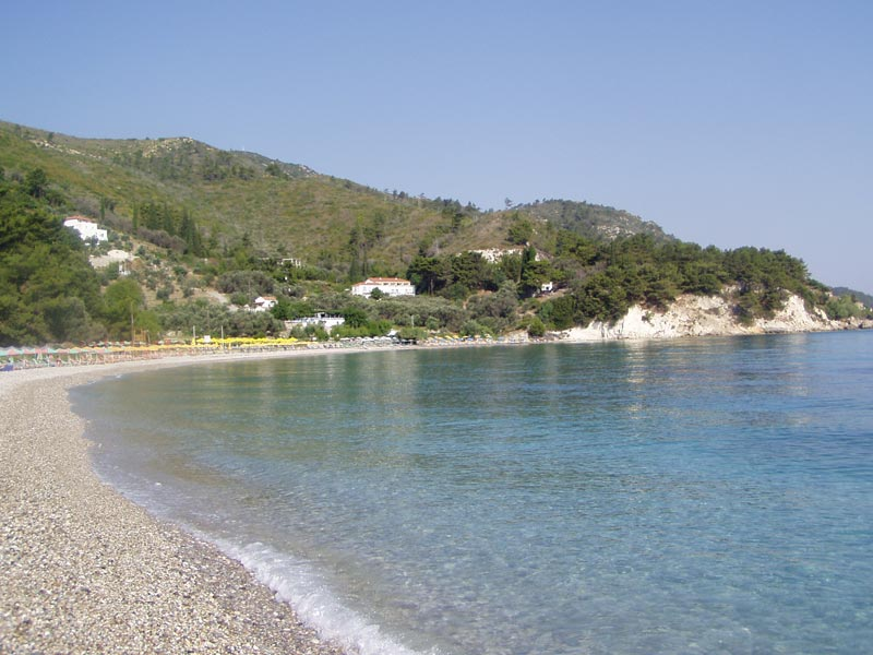 The beach of Tsamadou